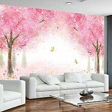 Fototapeten 3D Kirschbaum Moderne Vlies Wand