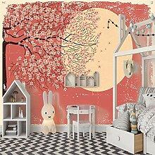 Fototapeten 3D Mond, Blumenbaum Moderne Vlies Wand