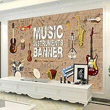 Fototapeten 3D Musikinstrument Moderne Vlies Wand