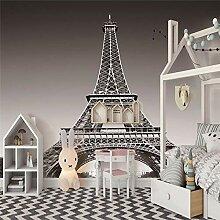 Fototapeten 3D Pariser Turm Moderne Vlies Wand