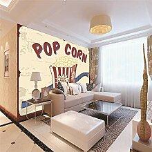 Fototapeten 3D Popcorn Moderne Vlies Wand Tapete
