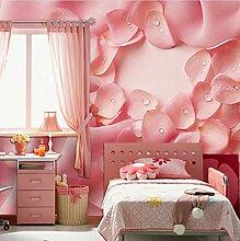 Fototapeten 3D Rosa Blütenblätter Moderne Vlies