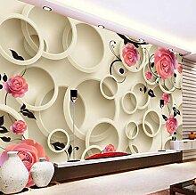 Fototapeten 3D Rosa blume Moderne Vlies Wand