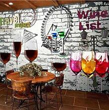 Fototapeten 3DRotwein Moderne Vlies Wand Tapete