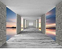 Fototapeten 3D Sonnenuntergang 352 x 250 cm Vlies
