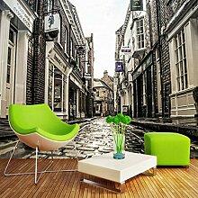 Fototapeten 3D Stadtgebäude Straße Moderne Vlies