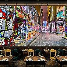 Fototapeten 3D Tapete Graffiti Vlies Tapete