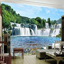 Fototapeten 3D Wasserfall, Wald Vlies Wandbilder