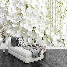 Fototapeten 3D Weiße Blume Moderne Vlies Wand