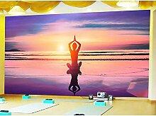 Fototapeten 3D Yoga Moderne Vlies Wand Tapete