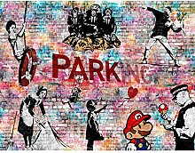 Fototapeten Banksy Kollage 352 x 250 cm - Vlies