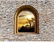 Fototapeten Fenster Sonnenuntergang am Meer 396 x