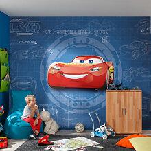 Fototapeten - Fototapete Disney Cars 3 Blueprint