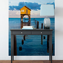 Fototapeten - Fototapete Haus auf dem Meer -