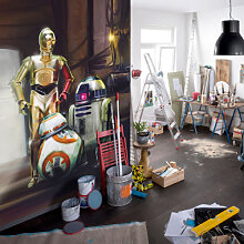 Fototapeten - Fototapete Star Wars Three Droids