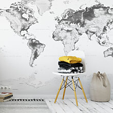 Fototapeten - Fototapete - Topografische Weltkarte