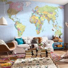 Fototapeten - Fototapete Vliestapete Weltkarte