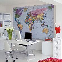 Fototapeten - Fototapete Weltkarte