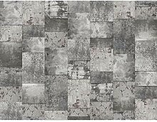 Fototapeten Kachel Grau 352 x 250 cm Vlies Wand