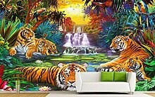 Fototapeten Landschaft Wald Tiger Fototapete 3D