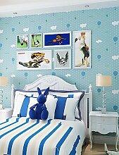 fototapeten moderne Tapeten Art-Deco-3D-Comic-Tapete Wandverkleidung Vlies Wandkunst , blue