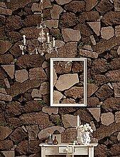 fototapeten Retro-Tapete Art-Deco-Steinbild Tapete Wandverkleidung PVC / Vinyl-Wandkunst , fuschia
