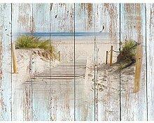 Fototapeten Strand Holzoptik 352 x 250 cm Vlies
