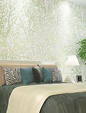 fototapeten Tapete 3d ländlichen Wald Wallpaper Bäume / Blätter Wandverkleidung, Bäume / Blätter Vliespapier , green