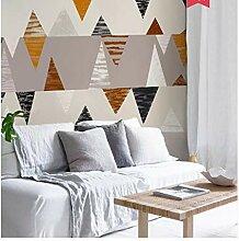 Fototapeten Wandbilder Geometrische Wandfarbe, die
