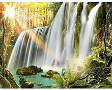 Fototapeten Wasserfall Landschaft 352 x 250 cm -