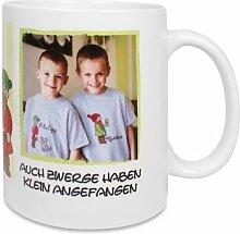 Fototasse selbst gestalten - Hochwertige Keramik-Tasse mit eigenem Spruch, Namen & Foto - Namenstasse, Motiv-Tassen, Kaffee-Becher bedrucken lassen – Bedruckte Tasse mit Text, Foto & Sprüchen als Geschenk-Idee