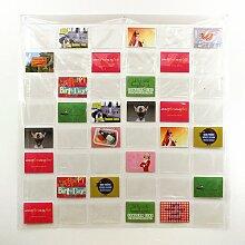 Fotovorhang, Fotohalter mit 48 Taschen, Bilderrahmen, Taschenvorhang