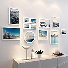 Fotowand display, foto galerie wand rahmen, holz