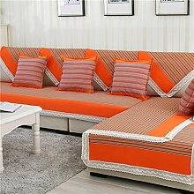 four Seasons Sofa Handtuch/Anti-Statik-Denim Stripe Sofa Handtuch-B 110x220cm(43x87inch)