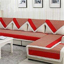 four Seasons Sofa Handtuch/Anti-Statik-Denim Stripe Sofa Handtuch-C 110x250cm(43x98inch)