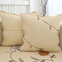 Four Seasons Sofakissen Rückenlehne/Bett Tuch Kissen/Haarkissen/Büro Lendenkissen--ein-M 45x45cm(18x18inch)versionA