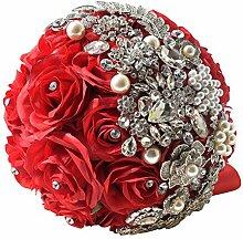 Fouriding Handgemachte Brosche Brautstrauß Braut