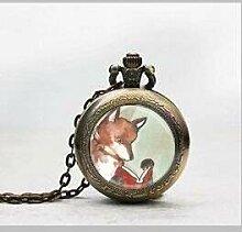 Fox Anhänger Taschenuhr, woodland Creature