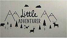 Fox Art Wand-Aufkleber Kindergarten Kleine