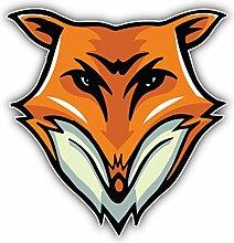 Fox Face Mascot Kunst Dekor Aufkleber 12 x 12 cm