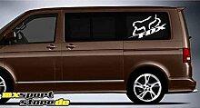 FOX (Farbwahl) XXL Aufkleber Sticker Motorrad Bike MONSTER T4 T5 Minivan Bus