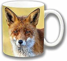 Fox Foto Druck Nahaufname Kopf Bunt Keramik Tee-/ Kaffeetasse Einzigartige Geschenkidee