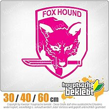 Fox Hound - in 3 Größen erhältlich Heckscheibenaufkleber Carsticker Decal