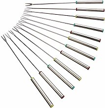 "Fox Run Stainless Steel 9.5"" Fondue Forks,"