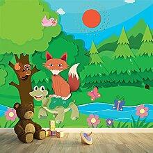 Fox Schmetterling Wandbild Waldtier Foto-Tapete Kinderzimmer Wohnkultur Erhältlich in 8 Größen Extraklein Digital