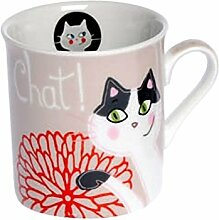 Fox Trot 9241ncha–Mini Becher aus Porzellan Decor Cha Cha Cha