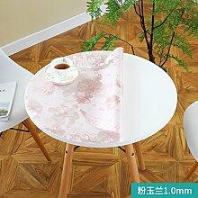 Foxi Pvc tischset,Durchsichtige Kunststoff Weiches glas Tischdecken Wasserdicht Einweg Kristall tischtuch Ultra-thin Teetisch Schutzfolie-H Durchmesser100cm(39inch)