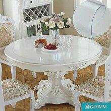 Foxi Pvc tischset,Durchsichtige Kunststoff Weiches glas Tischdecken Wasserdicht Einweg Kristall tischtuch Ultra-thin Teetisch Schutzfolie-B Durchmesser80cm(31inch)