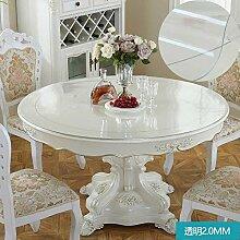 Foxi Pvc tischset,Durchsichtige Kunststoff Weiches glas Tischdecken Wasserdicht Einweg Kristall tischtuch Ultra-thin Teetisch Schutzfolie-A Durchmesser 70 cm (28 Zoll)