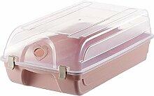 Foxom Schuhbox, Kunststoff mit Deckel Schuhkarton
